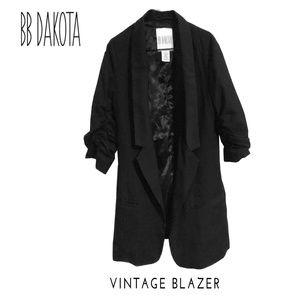 BB DAKOTA  Blazer w/ Short Ruffle Sleeves